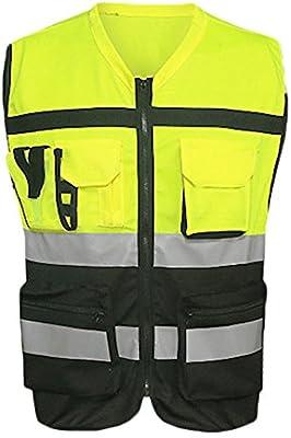 ZREAL - Chaleco reflectante para carreras, bicicleta, senderismo, bicicleta, chaleco de seguridad reflectante, chaqueta con bolsillos, XXL: Amazon.es: Hogar