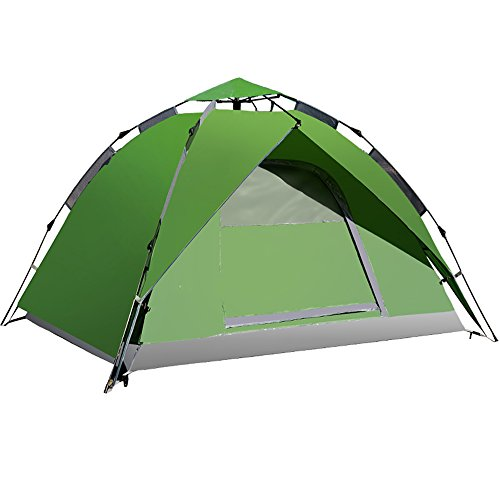 邪悪な援助ライナーQFFL zhangpeng テントスピードオープン自動テント屋外3-4マルチ人の防水テントキャンプテントセット3色オプション トンネルテント ( 色 : A )