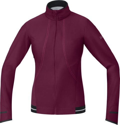 Gore Bike Wear Women's Air 2.0 Windstopper Soft Shell Jersey, Shiraz Red/Hot Pink, Large (Gore Stretch Mittens)