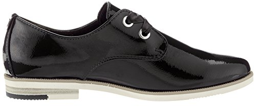 Marco Derby Tozzi de Black Cordones 23201 Mujer Patent Zapatos Negro OwOrx6q