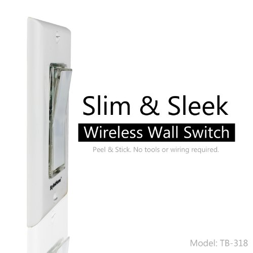 Skylinkhome tb 318 wireless stick on or wall mounted battery skylinkhome tb 318 wireless stick on or wall mounted battery operated anywhere wall light switch remote transmitter wall dimmer switches amazon mozeypictures Choice Image