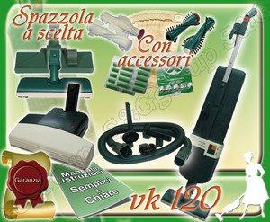 SET COMPLETO: ASPIRAPOLVERE FOLLETTO VK120 USATO + BATTITAPPETO + PULIZIE AEREE S&G group