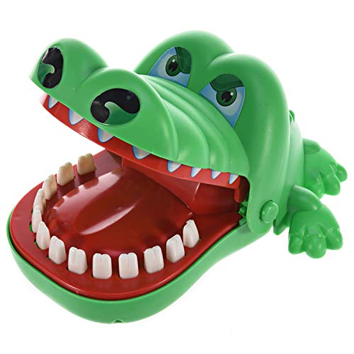 Funny Toys, Crocodile Bite Finger Game Fun Toy Suitable for Children 2 to 5 Years Old and Above Funny Toy Novelty Toys Green ()