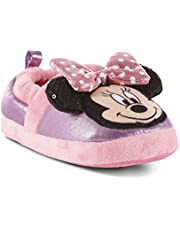 ACL International Disney Toddler Girls' Minnie Mouse Pink Purple House Slipper