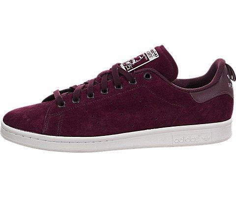 7ed04dd556 Galleon - Adidas Men s Stan Smith Maroon White Ankle-High Leather Fashion  Sneaker - 8M