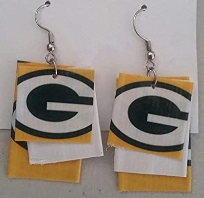 Green Bay Packers NFL Duct Tape Earrings