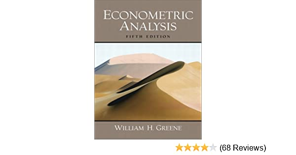 William Greene Econometric Analysis Pdf