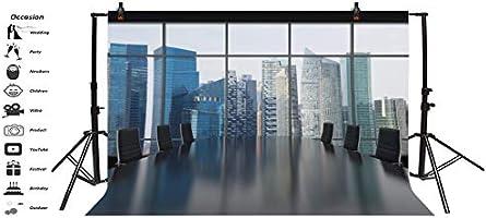 GzHQ 6x4 pies Vinilo Representación 3D Ventanas panorámicas Telón Brillante Moderno Espacio Abierto Oficina Fotografía Interior Papel Tapiz Gran Sala reuniones Telón Photo Studio Props: Amazon.es: Electrónica