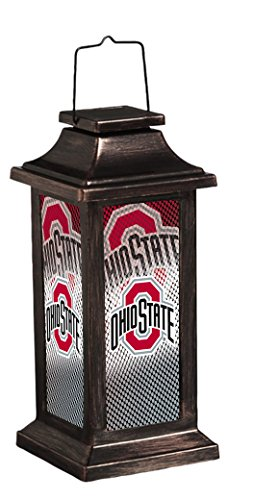 Team Sports America Ohio State University Solar-Powered Outdoor Safe Hanging Garden Lantern