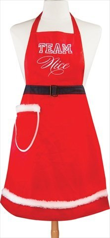 Manual Woodworkers & Weavers Terri Puma Holiday Apron, Team Nice - Elf Aprons