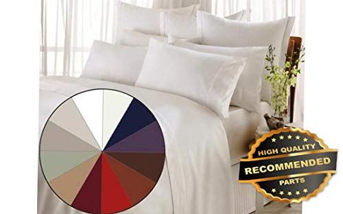 (Ellyly Premium New 1200 Thread Count 4 Piece Bed Sheet Set Style CMFTR-120220816 | Queen)