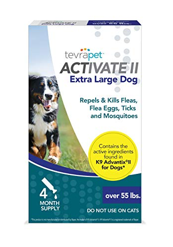 TevraPet Activate II Flea and Tick Prevention for Dogs - Topical, for Dogs Over 55Lbs from TevraPet