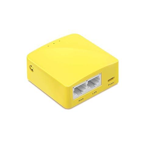 GL iNET GL-MT300N-V2 Mini Travel Router, Repeater Bridge, 300Mbps High  Performance, 128MB RAM, OpenVPN Client