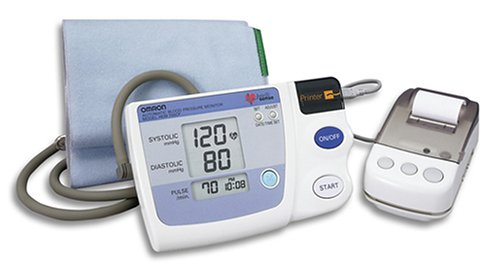 Blood Inflate Pressure Monitor (Omron HEM 705 CP Auto Inflate Blood Pressure Monitor with Printer)