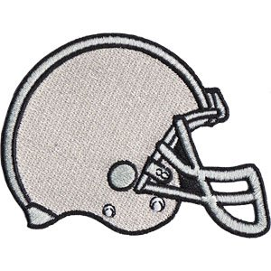 SPORTS FOOTBALL HELMET, Officially Licensed, Iron-On / Sew-On, Embroidered PATCH - 2.6