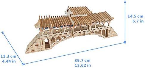FD2LB1NVL Modelo 3D Puzzle para niños DIY Pabellón de Madera ...
