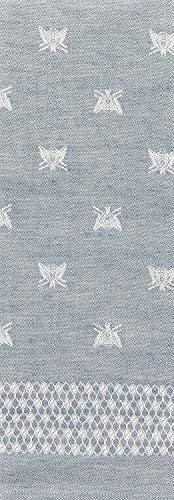 Tessitura Pardi Api (Bees) Navy Blue Misto Linen Large Italian Kitchen Towel ()