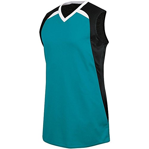 (High Five Fever Jersey - Women's,Teal/Black/White,Large)