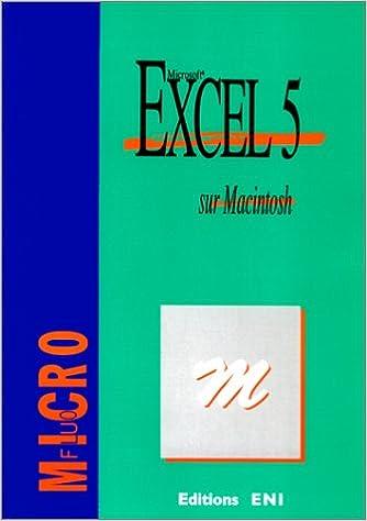 Book Excel 5 sur Macintosh : Microsoft