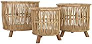 "Creative Co-op 11.25"", 13.5"" & 15.75"" Woven Bamboo Footed (Set of 3 Si"