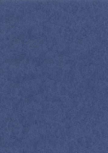 York Wallcoverings ET4011 750 Home Chevron Weave Wallpaper Cobalt