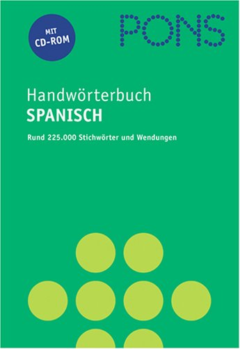 PONS Handwörterbuch Spanisch, m. CD-ROM, Neubearbeitung
