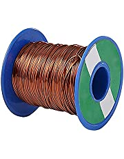 JKGHK Enamelled Copper Magnet Wire Round Copper Wiring Bare Copper Wire Diameter 0.4-0.7mm(32.8Ft)