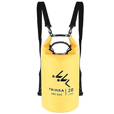 54acafc5e70 Sala-Sportswear - 20L Waterproof Backpack Dry Bag Sack Adjustable Straps  Bags Storage Dry Sack Bag for Kayak Rafting Camping Sport Swimming Bags - -  Amazon. ...