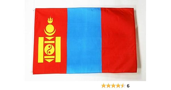 AZ FLAG Bandera de Mongolia 90x60cm - Bandera MONGOLA 60 x 90 cm: Amazon.es: Jardín
