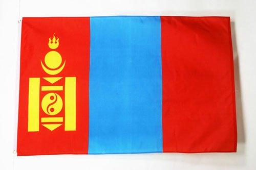 AZ FLAG Bandera de Mongolia 150x90cm - Bandera MONGOLA 90 x 150 cm