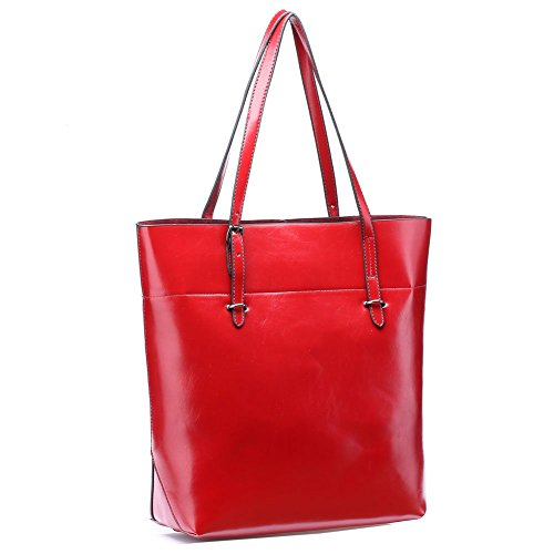 UTAKE Women Handbags Leather Handbags Shoulder Bag PU Leather Tote Bag UT14 Red
