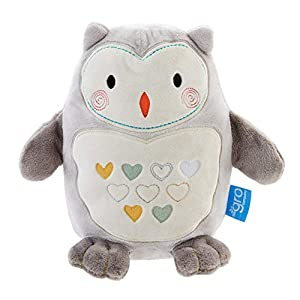 Tommee Tippee Grofriend Ollie The Owl Sleep Aid with Sound and Night Light, Grey