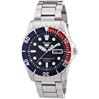 Seiko 5 Dark Blue Dial Diver Stainless Steel Automatic Men's Watch