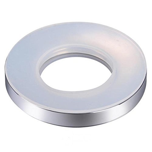 (Chrome Mounting Ring for Home Bathroom Glass Vessel Sink Drain Mount Support)