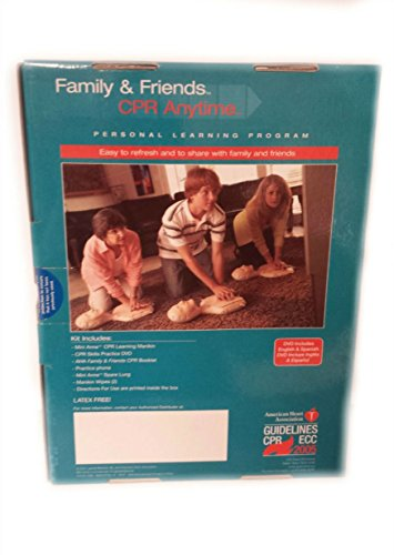 Lifesaving Skills in 20 Minutes: Family & Friends CPR Anytime (Personal Learning Program: Course Kit Includes Mini Anne; CPR Skills Practice DVD; AHA CPR, etc) (Multimedia)