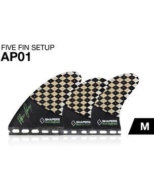 SHAPERSサーフボード用フィン AP01 FUTUREボックス用TRI-QUAD5フィンセット   B01B634X7A