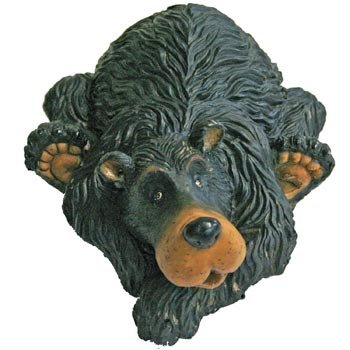 Cute Black Bear Figurine Shelf-Sitter Decoration 6.25