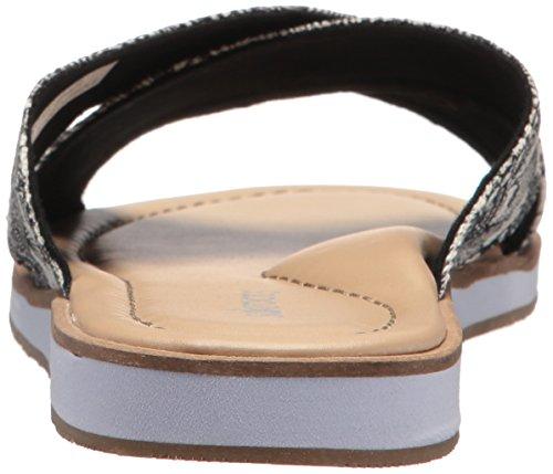 Den Sak Kvinna Calypso Glid Sandal Svart / Lacknafta Öken
