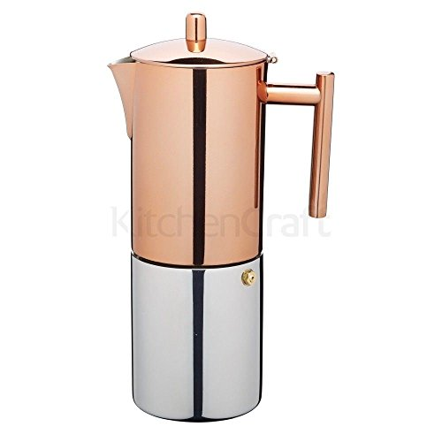 Le'Xpress Stainless Steel Copper Effect Espresso Coffee Maker 600ml Gift Boxed (Pack of 2) by Le'Xpress