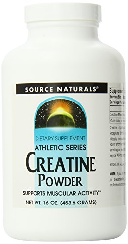 Source Naturals Creatine Powder, 16 Ounce (Pack of 12) by Source Naturals
