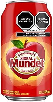 Sidral Mundet Refresco Sabor Manzana Sidral Mundet Lata 355ml 6pk, Manzana, 355 mililitros