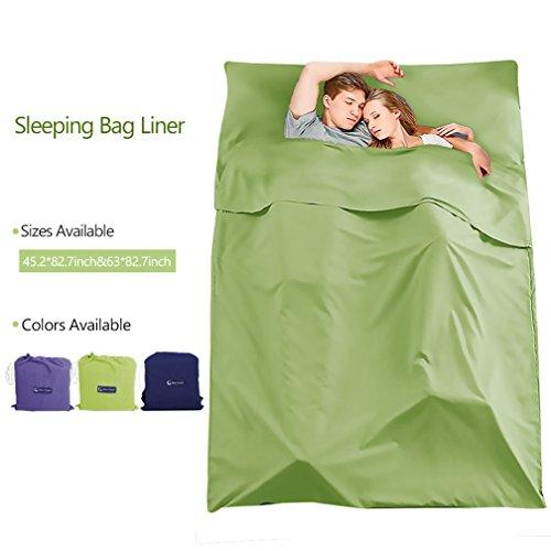 Make you perfect Cotton Sleeping Bag Liner Lightweight Camping Travel Sheet Sleep Sack for Backpacking,Hotel,Picnic,Hiking