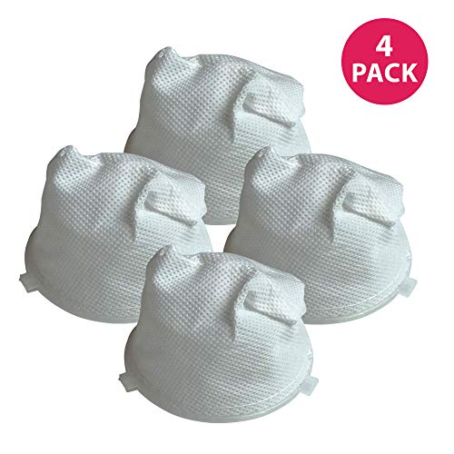 Crucial Vacuum Replacement F5 Filters with Base, Compatible with Dirt Devil F5 Hand Vac Filters with Base, Fits Dirt Devil Scorpion Hand Vacs, HEPA Style, Part 3DEA950001 (4 Pack)