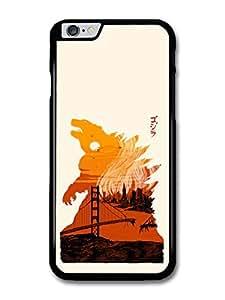 Godzilla Movie Japan Poster Orange Illustration case for iphone 4 4s