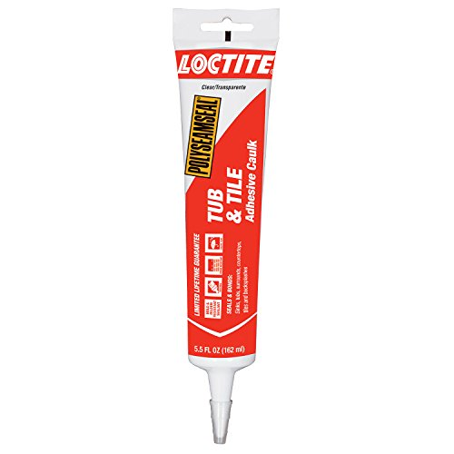 Loctite Polyseamseal Clear Tub and Tile Sealant, 5.5-Fluid Ounce Squeeze Tube (2241871)