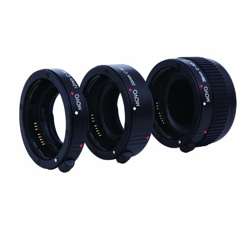 Movo Photo AF Macro Extension Tube Set for Canon EOS DSLR Camera with 12mm, 20mm & 36mm Tubes (Economy Mount) (Ii 12 Ef Extension Tube)