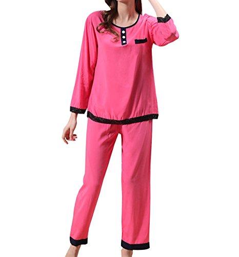 Juego Del Ocio Del Verano Alrededor Del Cuello De La Señora Pijamas Cómodos Interiores Pink