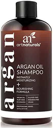 ArtNaturals Moroccan Argan Oil Shampoo - (16 Fl Oz / 473ml) - Moisturizing, Volumizing Sulfate Free Shampoo for Women, Men and Teens - Used for Colored and All Hair Types, Anti-Aging Hair Care
