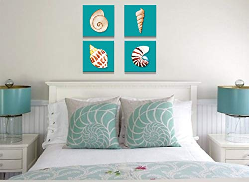 Bathroom Decor Watercolor Seashell Artwo Buy Online In Bahamas At Desertcart