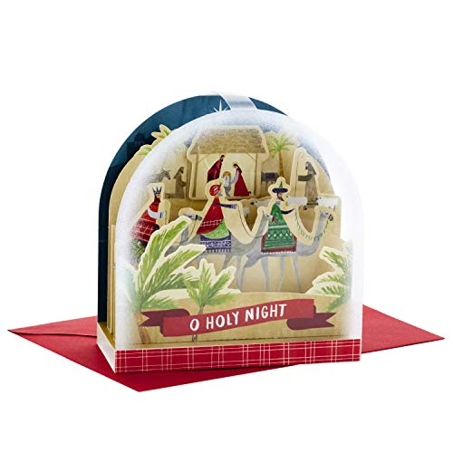 Card Christmas Scene Nativity (Hallmark Paper Wonder Pop Up Christmas Card Snow Globe (Nativity Scene))
